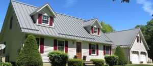 metal roof on MD house