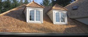 wooden cedar shake roof